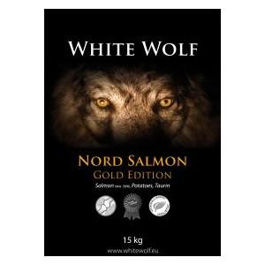 WhiteWolf Nord Salmon GOLD EDITION 12kg (łosoś, ziemniaki, zioła, probiotyki, ochrona stawów, tauryna, l-karnityna)
