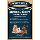 WhiteWolf Naturals  Turkey & Rice Senior/Light 12 kg